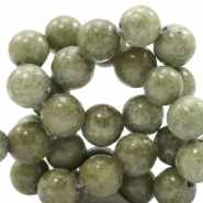 8 mm natural stone beads round Jade Green-Grey