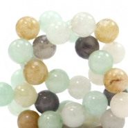 8 mm natural stone beads round Multicolour Soft Blue