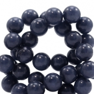 8 mm natural stone beads round Jade Dark Midnight Blue
