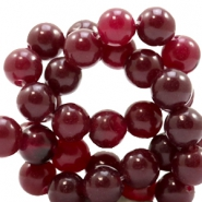 8 mm natural stone beads round Jade Port Red