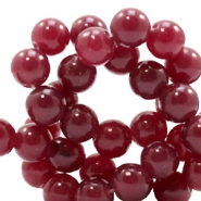 8 mm natural stone beads round Jade Amber red