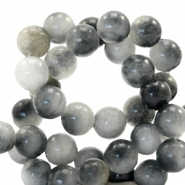 6 mm natural stone beads round Jade Mixed Grey