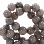 6 mm natural stone beads round Dark Brown Grey