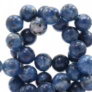 6 mm natural stone beads round Multicolour Denim Blue