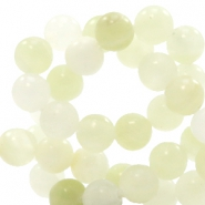 6 mm natural stone beads round Mixed Morning Glow Green