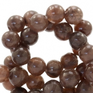 6 mm natural stone beads round Chocolate Brown