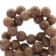 6 mm natural stone beads round Chesnut Brown