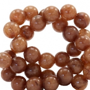 6 mm natural stone beads round Tawny Brown