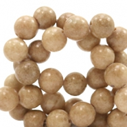 6 mm natural stone beads round Natural Oak Brown