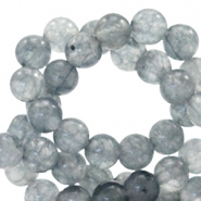 4 mm natural stone beads round Mixed Grey Opal