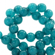 4 mm natural stone beads round Dark Teal Blue