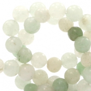 4 mm natural stone beads round Multicolour Light Green