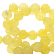 4 mm natural stone beads round Gold Finch Yellow