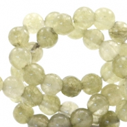 4 mm natural stone beads round Salvia Green