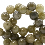 4 mm natural stone beads round Olive Green