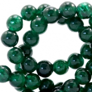 4 mm natural stone beads round Dark Classic Green