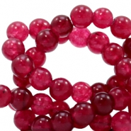 4 mm natural stone beads round Soft Ruby Red