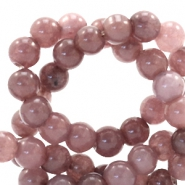 4 mm natural stone beads round Dark Taupe Brown