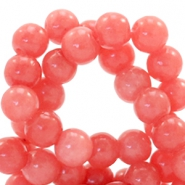 4 mm natural stone beads round Jade Dusty Red Orange