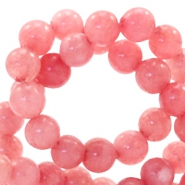 4 mm natural stone beads round Coral Berry Rose