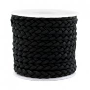 Trendy flat cord braided silk style 5mm Black