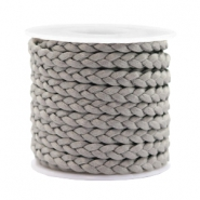 Trendy flat cord braided silk style 5mm Grey