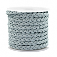 Trendy flat cord braided silk style 5mm Blue Mist