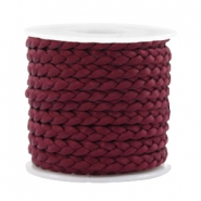 Trendy flat cord braided silk style 5mm Port Red