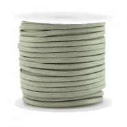 Trendy flat cord silk style 2mm Velvet Sage Green
