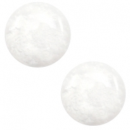 7 mm classic Polaris Elements cabochon Mosso shiny White