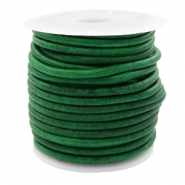 DQ leather round 3 mm Vintage Classic Green
