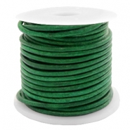 DQ leather round 2 mm Vintage Classic Green