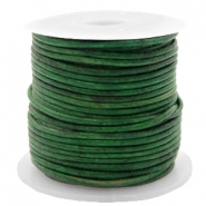 DQ leather round 1 mm Vintage Classic Green