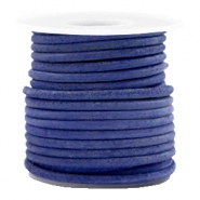 DQ leather round 3 mm Antique Blue