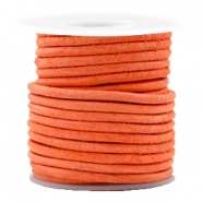 DQ leather round 3 mm Antique Orange