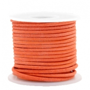 DQ leather round 2 mm Antique Orange