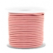 DQ leather round 1 mm Blossom Pink Metallic