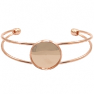 Metal bracelet for 20mm cabochon Rose Gold