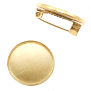 Brooches for cabochon 20 mm Gold