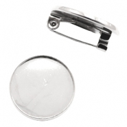 Brooches for cabochon 20 mm Antique Silver