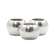 Stainless Steel findings beads 3mm Silver