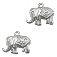 Stainless steel charms elephant Silver