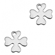 Charms stainless steel clover Silver