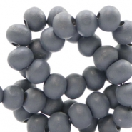 Wooden beads round 6 mm Rock Grey