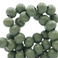 Wooden beads round 6 mm Island Palm Green