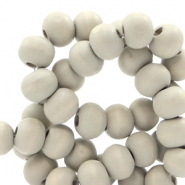 Wooden beads round 8 mm Aegean Mist Green