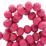 Wooden beads round 6 mm Cherish Pink