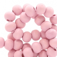 Wooden beads round 8 mm Light Ballet Pink