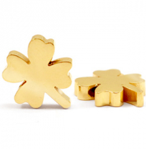Stainless steel clover gold