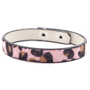 Ready-made bracelets leopard Light Pink